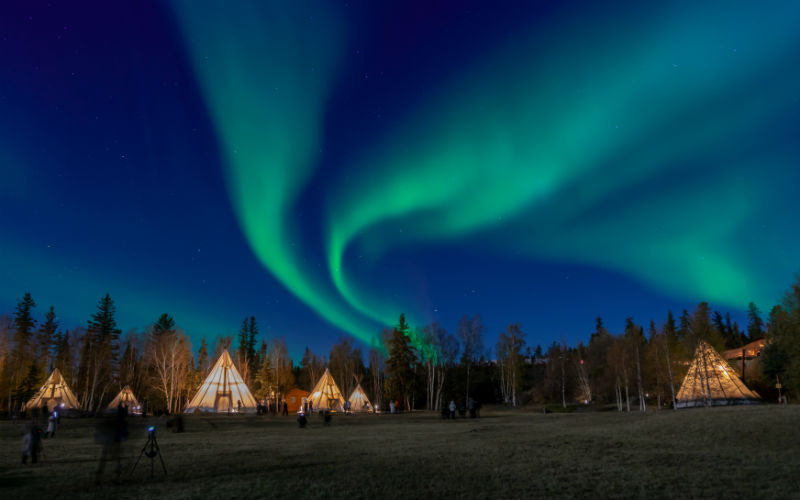 Yellowknife, aurora boreal